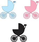 Baby Carriage Colors Stock Photos