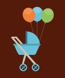Baby carriage Stock Image
