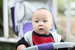 Baby in carriage Stock Image