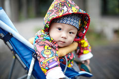 Baby in carriage Stock Photos