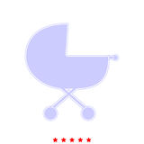 Baby carriage it is icon . Royalty Free Stock Image