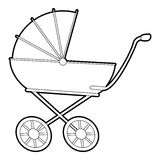 Baby carriage icon, isometric 3d style Royalty Free Stock Photos