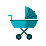 Baby carriage icon Royalty Free Stock Images