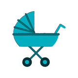 Baby carriage icon Royalty Free Stock Image