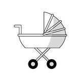 Baby carriage icon Stock Photography