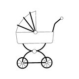 Baby carriage icon Royalty Free Stock Photography