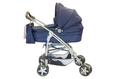 Baby carriage. Isolated on a white background royalty free stock photography