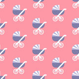 Baby carriage pattern Royalty Free Stock Photos