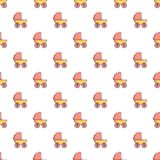 Baby carriage pattern seamless Royalty Free Stock Photos