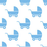 Baby carriage seamless pattern Royalty Free Stock Photography