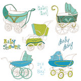 Baby Carriage Set Stock Photos