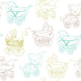 Baby Carriage Set Stock Images