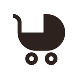 Baby carriage symbol Royalty Free Stock Photos