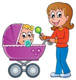 Baby carriage theme image 1 Royalty Free Stock Photos