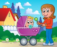 Baby carriage theme image 2 Royalty Free Stock Images
