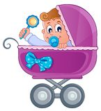 Baby carriage theme image 3 Royalty Free Stock Photo