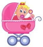 Baby carriage theme image 4 Stock Photos