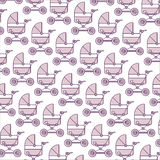 Baby carriage vector pattern Stock Photography