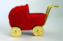 Baby carriage on a white background. Royalty Free Stock Photos