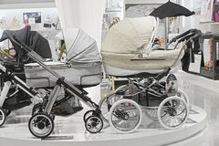 BABY CARRIAGES IN SALE Stock Photography