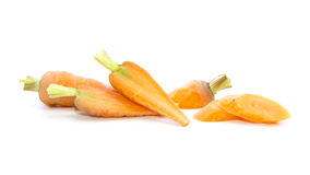 Baby carrots cut and sliced ingredient Royalty Free Stock Photos