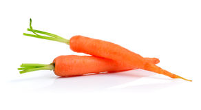 Baby carrots isolated on white background Stock Photography
