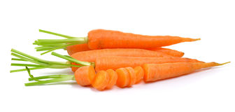 Baby carrots isolated on white background Royalty Free Stock Photos