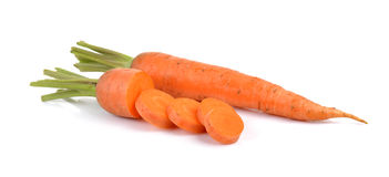 Baby carrots isolated on white background Royalty Free Stock Photography