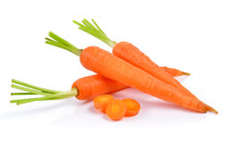 Baby carrots  on white background Royalty Free Stock Photography
