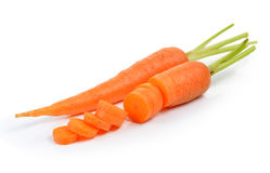 Baby carrots  on white background Stock Image