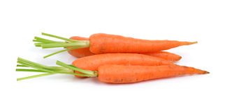 Baby carrots  on white background Royalty Free Stock Image