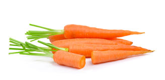 Baby carrots on white background Royalty Free Stock Photo