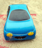 Baby cars in the sandbox Royalty Free Stock Photos