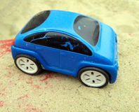 Baby cars in the sandbox Royalty Free Stock Image
