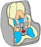 Baby in a carseat Royalty Free Stock Photos