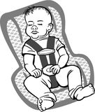 Baby in a Carseat Stock Photo