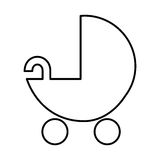 Baby cart silhouette isolated icon Royalty Free Stock Photography