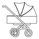 Baby cart trolley isolated icon vector illustration