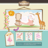 Baby cartoon background Stock Images