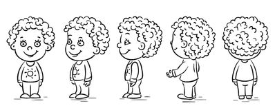 Baby cartoon character turnaround Stock Photography