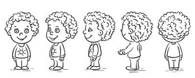 Baby cartoon character turnaround. Happy baby cartoon character turnaround Stock Photography