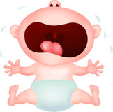 Baby cartoon crying Stock Photo