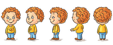 Baby cartoon. Happy baby cartoon character turnaround Stock Image