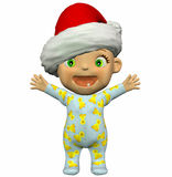 Baby Cartoon with Hat Royalty Free Stock Image
