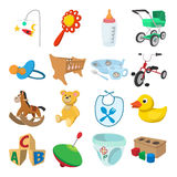 Baby cartoon icons set Stock Photography