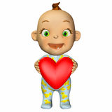 Baby Cartoon in Love Stock Photography