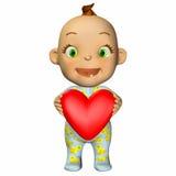 Baby Cartoon in Love Stock Photography