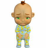 Baby Cartoon Sad Stock Photography
