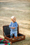 Baby in Case Royalty Free Stock Photos