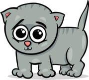 Baby cat kitten cartoon illustration Royalty Free Stock Image